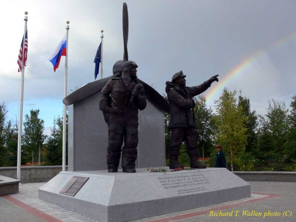 A Russian Pilot is Back in Fairbanks.  This Time in Bronze and this time He Will Stay Forever